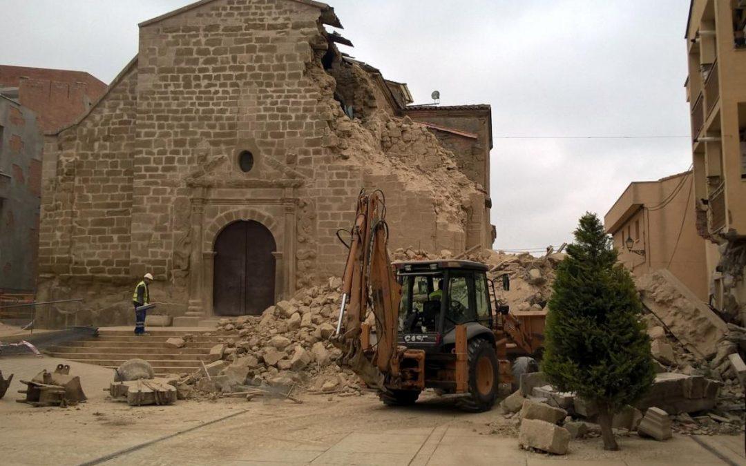 Hundimiento del Campanario de la Iglesia de Rosselló